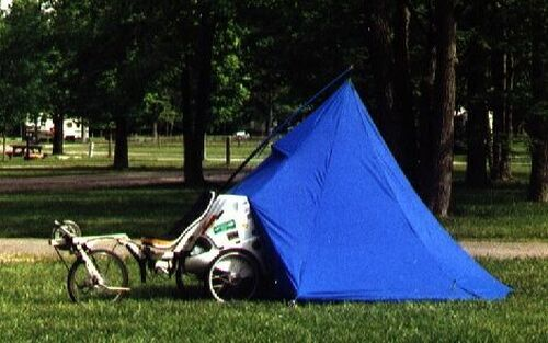 A Flevotrike to be used as camper